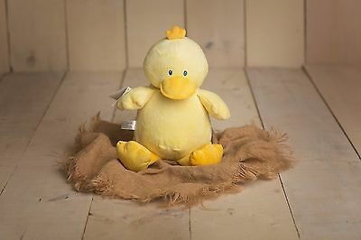 Embroidered Duck Teddy - Personalised Gifts - Birth Baby Shower - Get Well Gift