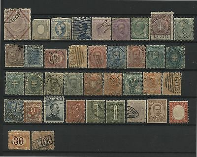 38 Old & Antique Used Stamps Italy