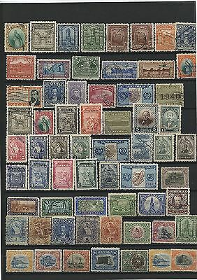 63 Old Vintage  Used Stamps Guatemala