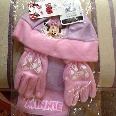Hat.scarf.gloves Set.childs.size50.hat.minnie Mouse.coat.jacket.xmas.gift.toy.