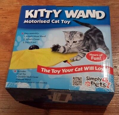 Kitty Wand Motorised Moving Mouse Tail Cat Toy In Great Condition