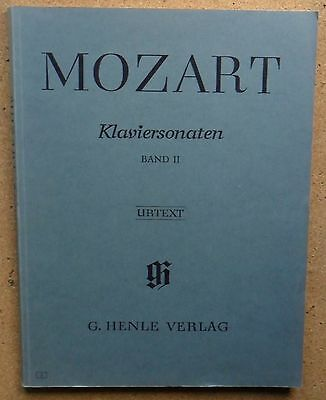 Mozart Klaviersonaten Urtext Piano Sheet Music Book