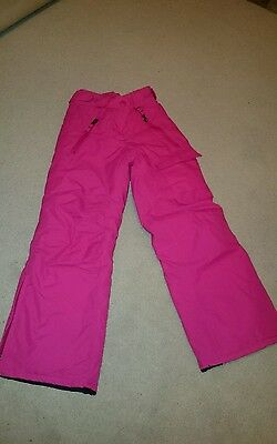 Girls padded waterproof ski/snow trousers age 7 -8yrs