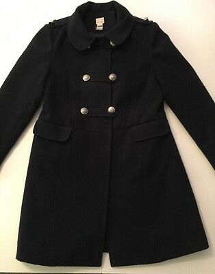 Girls Monsoon Smart Coat Military Style Age 12-13 Navy Blue Christmas Outfit