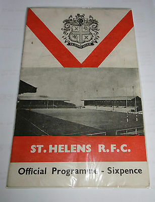 St Helens v Australia 24th October 1967 Tour Match @ Knowsley Road, St Helens