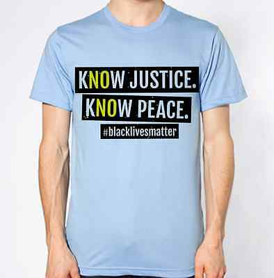 Black Lives Matter T-Shirt Justice Peace Racism Stop Crime