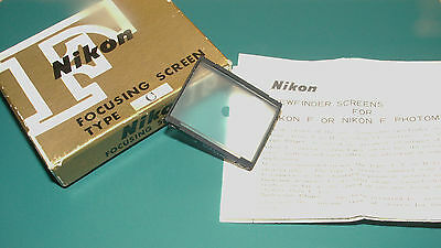 Nikon Focusing Screen Type   C, Boxed and with A4 size Information Leaftet