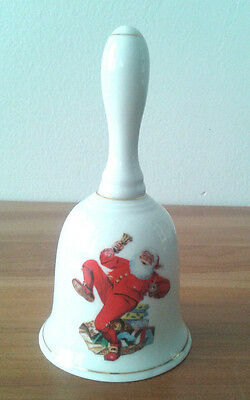 Porcelain Bell Christmas Santa Norman Rockwell Collectible