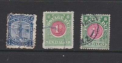 New Zealand.Three old back of book stamps