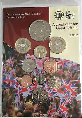 The Royal Mint 2012 Annual Coin Set Uncirculated 10 Coin Set