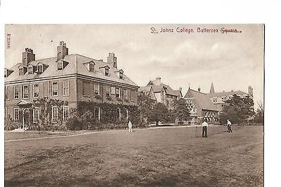 Battersea. St.John's College. Posted in 1910. Tennis Court.