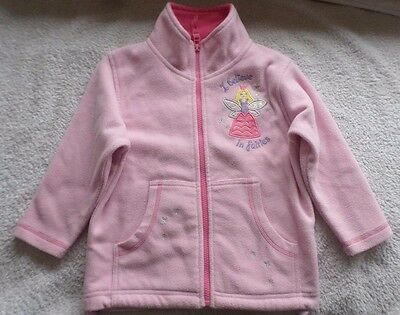Girls Pink Fairy Fleece Jacket/top  For 3-4 Years Old