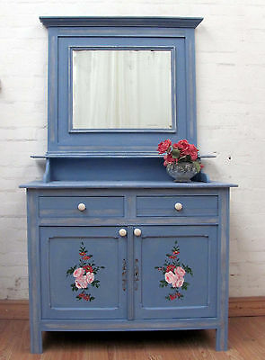 Delightful Antique French Painted Pine Dresser - C1940