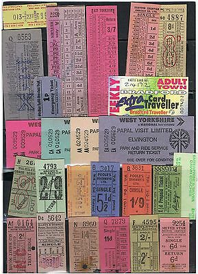 Bus Tickets, 25 No. Selection of Municipal Operators, Etc South Lancs. Etc.