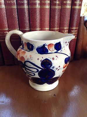 Antique Gaudy Welsh Jug. Oyster Pattern