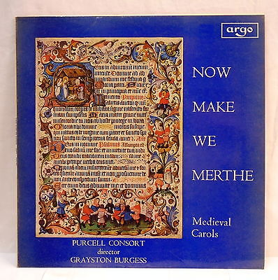 """Medieval Carols - ZRG 526 """"Now Make We Merthe""""  / Purcell Consort of Voices"""