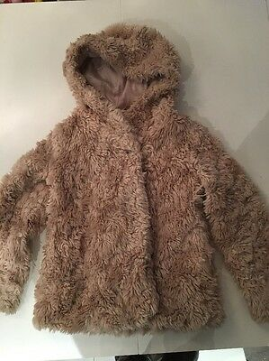 Girls Marks And Spencer Fur Coat Age 9-10 Beautiful Christmas Party Outfit