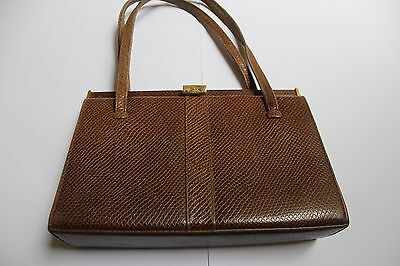 Vintage Small Brown Bag - Clasp Detail