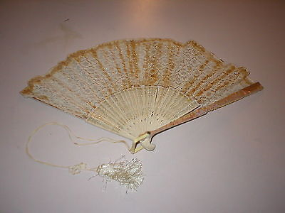 Antique Wedding Fan Lace Mother of Pearl