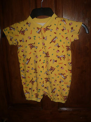 M & S yellow short play suit Size 12-18 mths