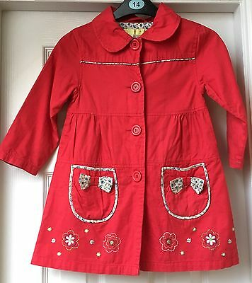 Girls Red Mac By Influence Size 5/6 Years