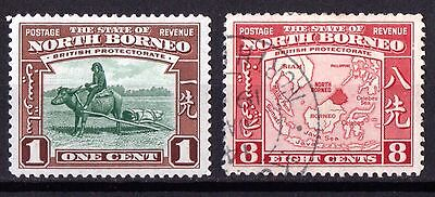 North Borneo SG303 Mint Hinged & SG308 Very Fine Used.
