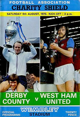 1975 CHARITY SHIELD DERBY v WEST HAM