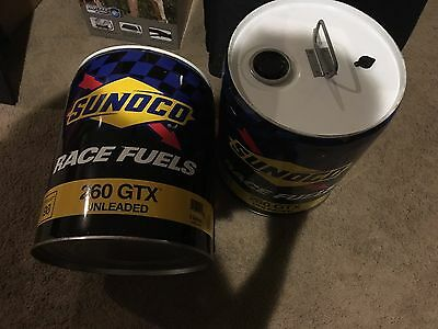 Set of two Sunoco racing fuel cans
