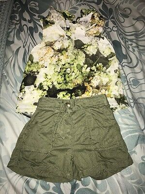 Girls Next Khaki Shorts And Top Combo Age 5-6 Years