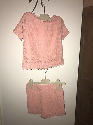 Girls Pink Next Two Piece Set 5years
