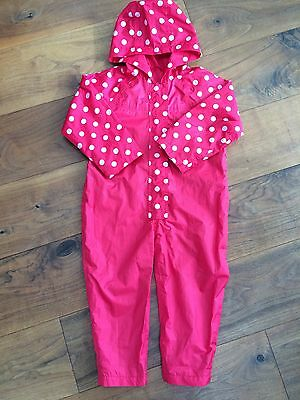 Girls Mothercare Puddle Suit Age 3-4yrs