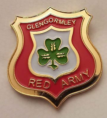 Cliftonville Fc Belfast Glengormley Red Army Pin Badge