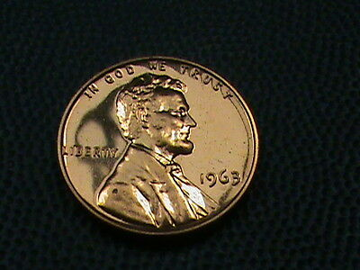 UNITED STATES   1 cent   1963    PROOF