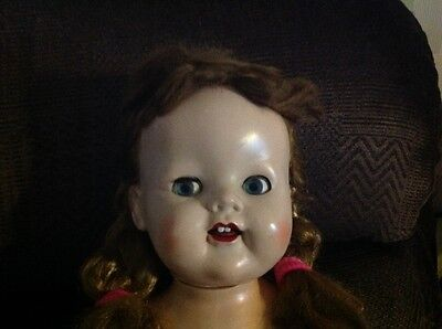 Vintage Pedigree? Doll Hard Plastic Doll With Moving Eyes
