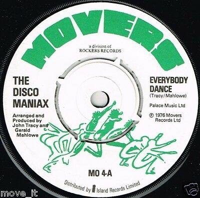 "movers 7"" : THE DISCO MANIAX-everybody dance     (hear)    funk"