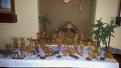 71 Piece Nativity Set Fontanini by Roman Vintage 34 Figures w/Lots of extra's