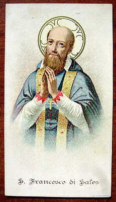 SANTINO di SAN FRANCESCO DI SALES - HOLY CARD - ESTAMPA - ANDACHTSBILD - lotto B