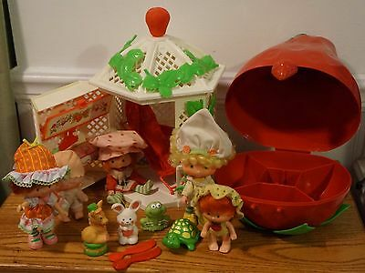Vintage Mixed Lot Strawberry Shortcake Carrying Case Figure Lot