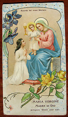 "SANTINO "" MARIA VERGINE "" - HOLY CARD - ESTAMPA - ANDACHTSBILD - lotto F"