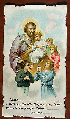 SANTINO - SAN GIUSEPPE - HOLY CARD - ESTAMPA - ANDACHTSBILD - lotto F