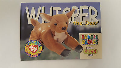 TY Beanie Baby collector card Whisper the deer Series 1