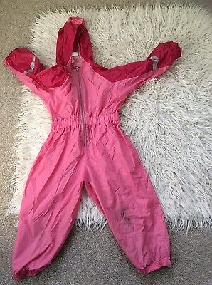 girls pink 2-3 years waterproof splash suit outdoors