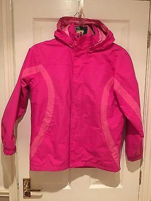 Girls Pink Hi gear 3 In 1 Coat With Removable Fleece.  Age 13/14 32""