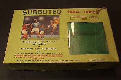 Vintage Subbuteo Table Soccer 'Continental' Display Edition - Incomplete Plus