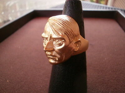 german wwii monster head 24kt gold plate size 12