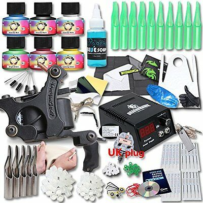 DragonHawk Upgrade Full Set Tattoo Kit Machines USA Brand Immortal Inks CE Power