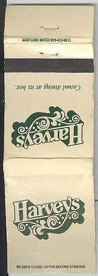 Matchbook Cover - Harvey's - Casual Dining At Its Best
