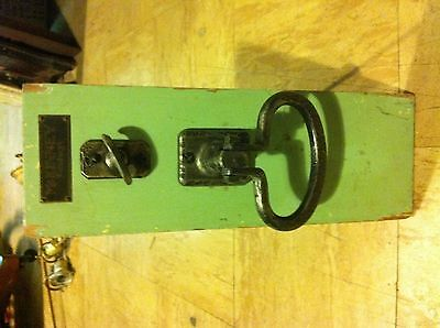 Vintage Hardware Store Display Door Knob And Lock On Stand McKinney Pittsburg