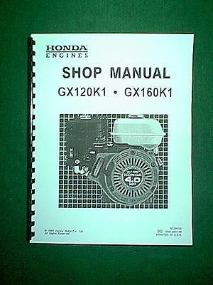 New Honda Gx120K1 & Gx160K1 4 Hp Horizontal Engine Shop Service Repair Manual