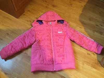 Lonsdale London Shower And Wind Proof Hooded Coat Jacket Girls 5-6 Years